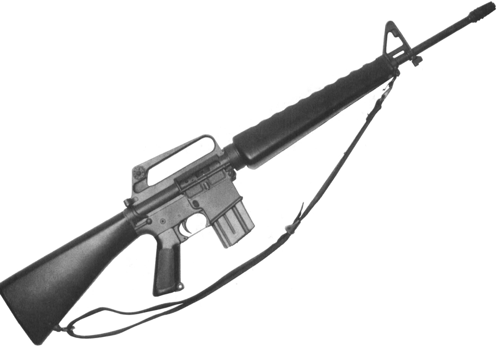 The M16-series rifles have served the U.S. military, law enforcement and sportsman with distinction for nearly 40 years. They have become the world's standard for comparison. Here is the latest, the M16A2 assault rifle.