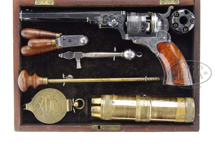 2 Paterson Belt Model Percussion Revolver. Est: $275000-$500000.