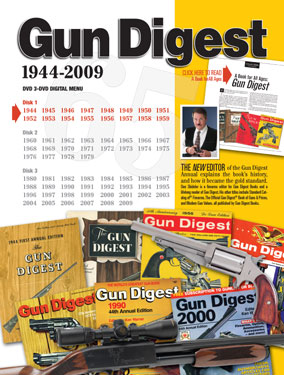 Gun Digest DVD menu allows easy navigation to all years