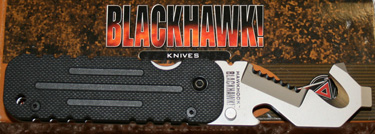 BlackHawk's Hawk Hook is a great little rescue tool for breaking out windows and cutting seatbelts.