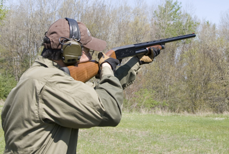 The Ithaca 37 Field Grade Featherlight shouldered well and broke plenty of clays at the test range.