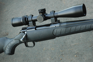 This T/C Venture wears a new Nitrex scope. ATK owns Nitrex, now under the Weaver label.
