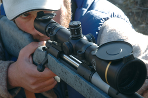 This Leupold 4.5-14x50 VX-3 has been modified for long shooting by GreyBull Precision.