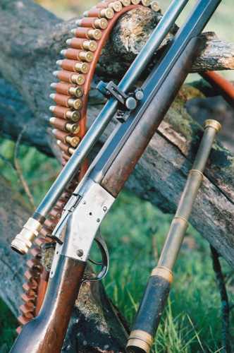 "Many Sharps collectors believe that the tooling for the Model 1875 was modified for the later production of the hammerless Model 1878 Sharps Borchardt rifle. Original shown here with a new-made Leatherwood Hi-Lux Optics ""Wm. Malcolm"" telescopic rifle sight."
