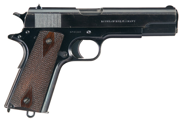 Here is the right side of a Navy-batch pistol, showing the markings. Photo courtesy Rock Island Auctions