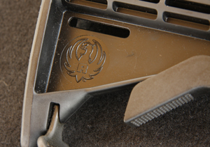 Even the tele-stock slider has the Ruger logo, lest you forget just who made this rifle.