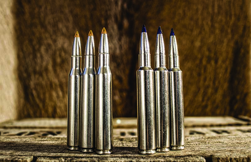 The .280 Remington (left) is a fine cartridge, but the .280 Ackley Improved (right) offers a velocity advantage.