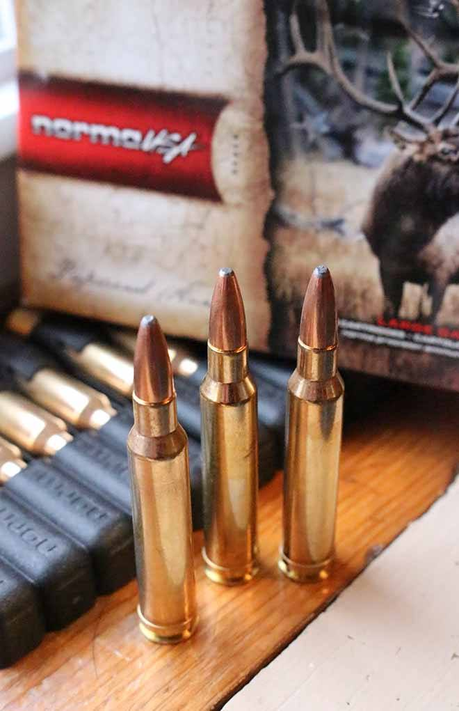 The .308 Norma Magnum was the first to match the .300 H&H ballistics in a long-action rifle.