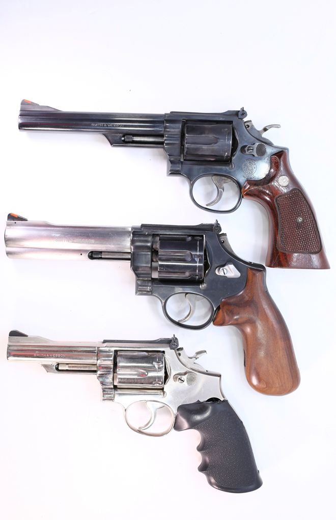 In any revolver caliber, a longer barrel gets you more velocity. It is a trade-off between handiness and speed.