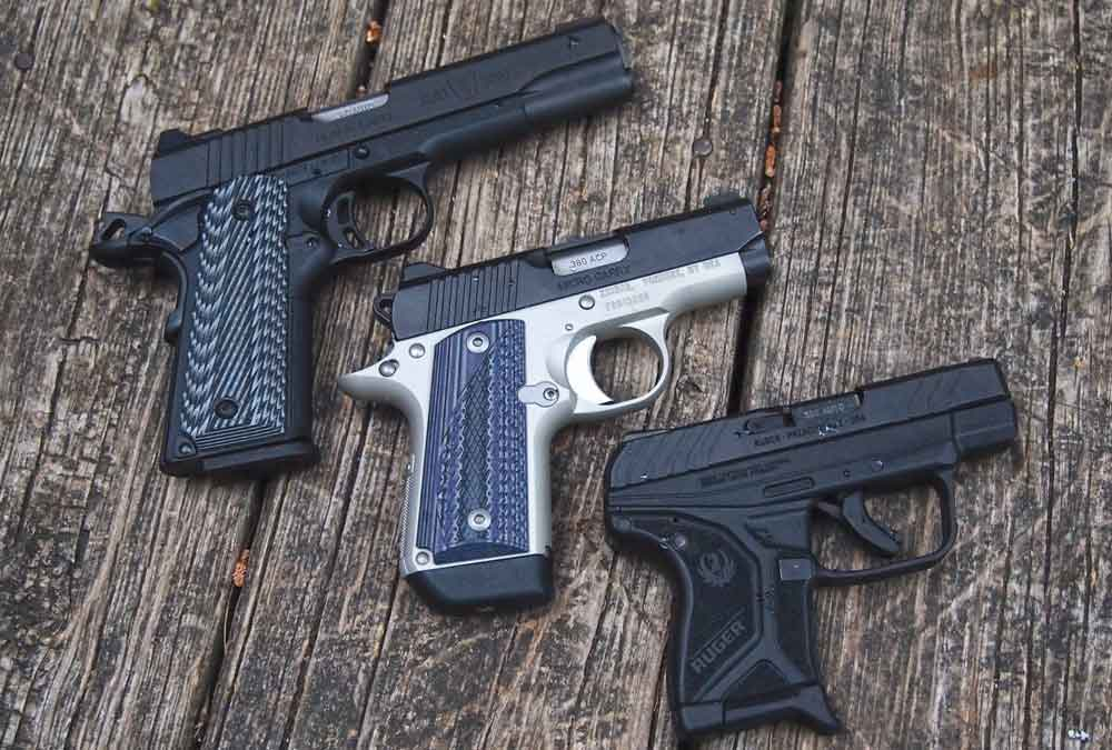 Three pistols chambered for .380 ACP