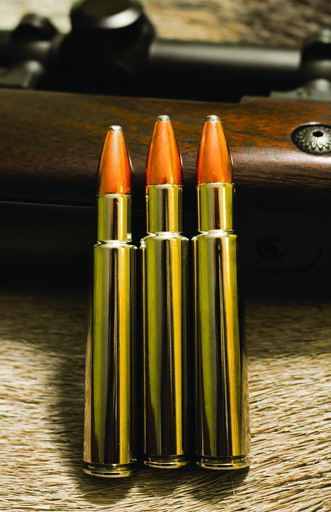 With its voluminous case and a 45-degree shoulder, the .416 Rigby is an absolute classic in .40-caliber.