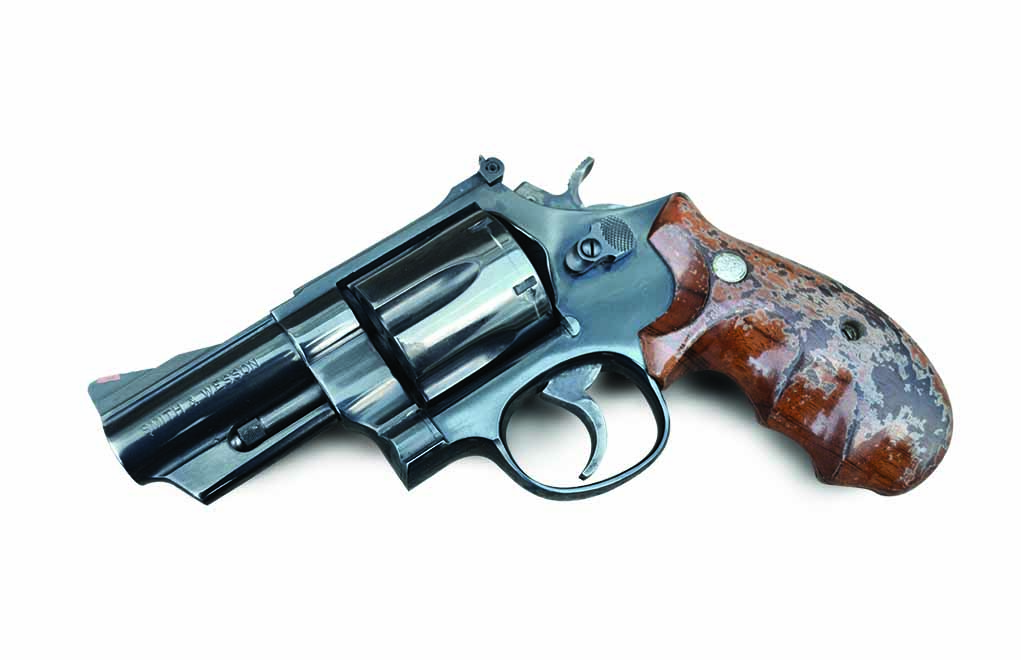 This .44 Magnum revolver is meant for up-close-and-personal work. The author shot the target on the left at 7 yards in offhand double-action mode and the right-hand target in single-action mode. It's surprisingly easy to shoot, and the trigger pull is outstanding.