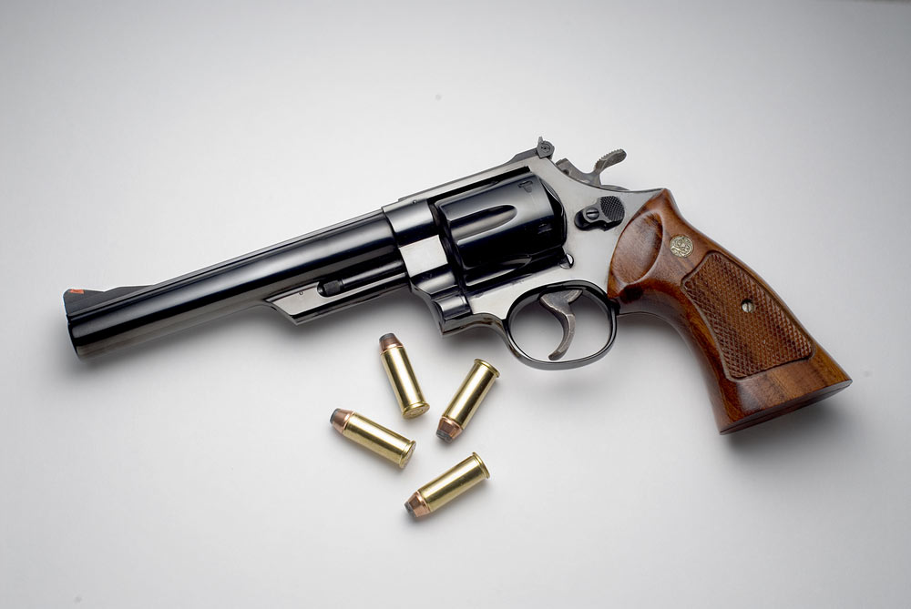 Through the urging of handloaders and outdoor writers, among them Elmer Keith, the .44 Magnum became a factory load in 1956. Smith & Wesson also released the Model 29, chambered for the round, the same year.