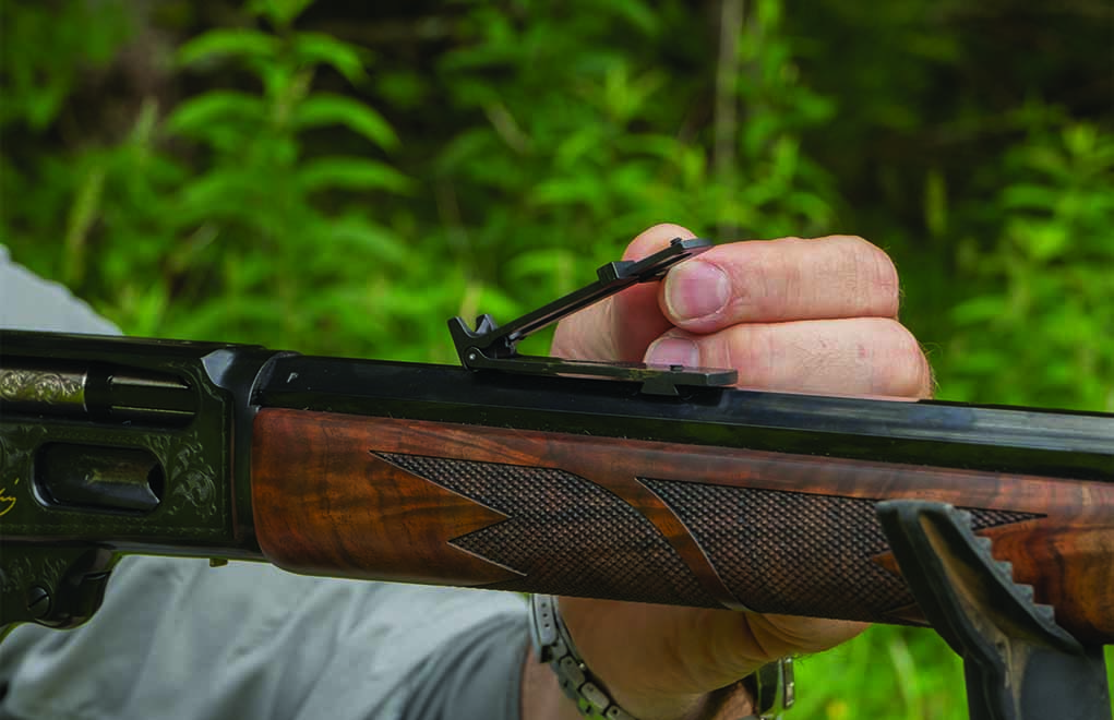 With the Skinner tangent sight, especially the second generation, it's possible to hold correctly for drop out to 300 yards and beyond.