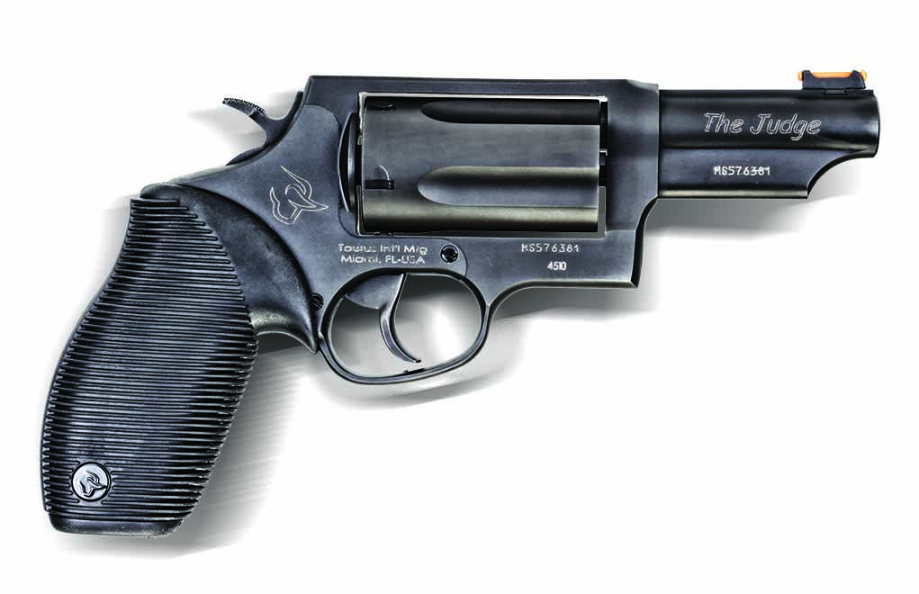 The Taurus Judge, a handgun capable of firing both .45 Colt ammo and .410-bore shotshells, has gained a huge following.