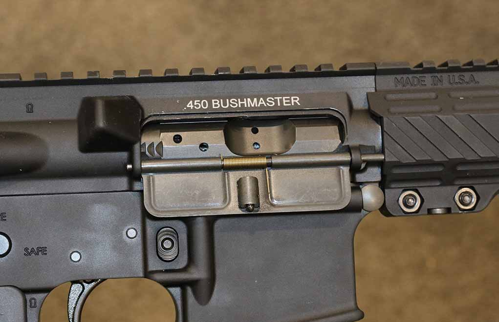 The .450 Bushmaster, besides being a drop-on upper conversion, is an easy build. Use a .450 Bushmaster barrel and bolt, and build up one the way you want it to be.