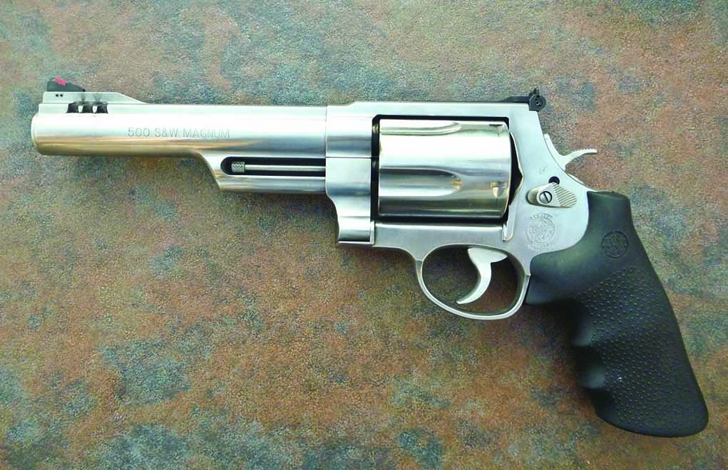 Smith & Wesson's foray into the .50-caliber realm came with the introduction of their oversized X-frame, which was a necessity to encapsulate the big .500 Smith & Wesson Magnum, the king of the hill.