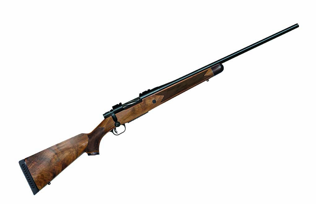 Mossberg's Patriot Revere has a very nice walnut stock with an accented forend and grip cap. Chambered in 6.5 Creedmoor, it's elegantly suitable for just about any big-game hunting.