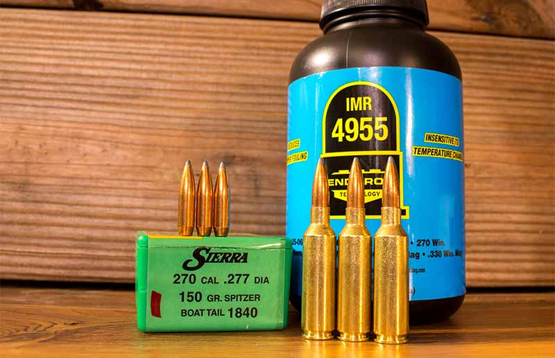 The Sierra 150-grain boattail spitzer has a shorter ogive than the other bullets the author tested and needed to be seated slightly deeper to avoid contacting the rifling. It shot well when mated with IMR 4955.