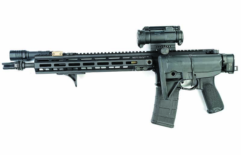 While a folding AR-15 might seem unnecessary, the robust LAW Tactical folder is a must-have on many of the author's rifles. For AR-15 accessories this is a must have.