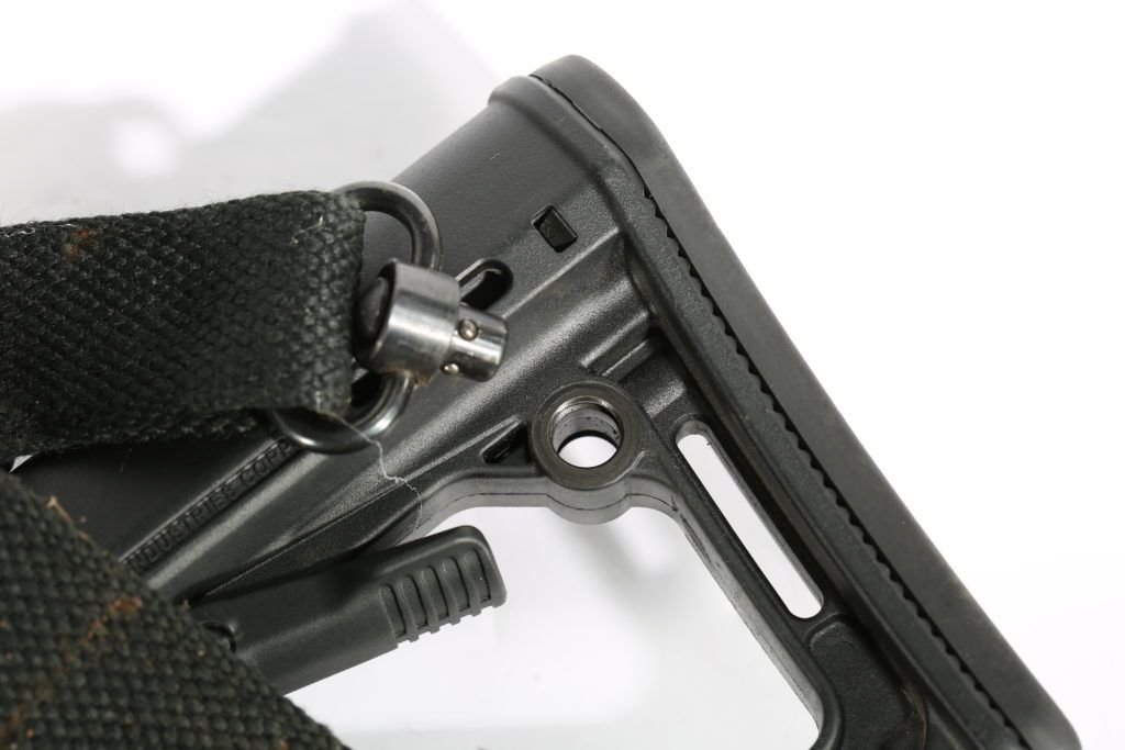 Those little circular holes in many stocks and forearm designs are the sockets for the QD sling system.