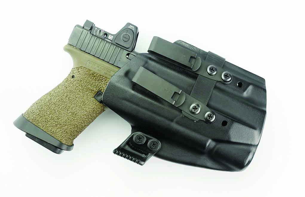 Stick with Kydex for your AIWB holster. Leather will become soft over time ... which is a bad trait for an appendix rig.