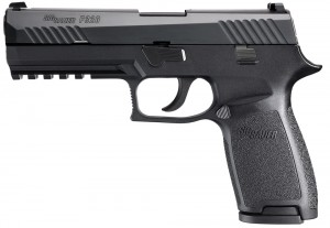 The SIG P320 full-sized Nitron.