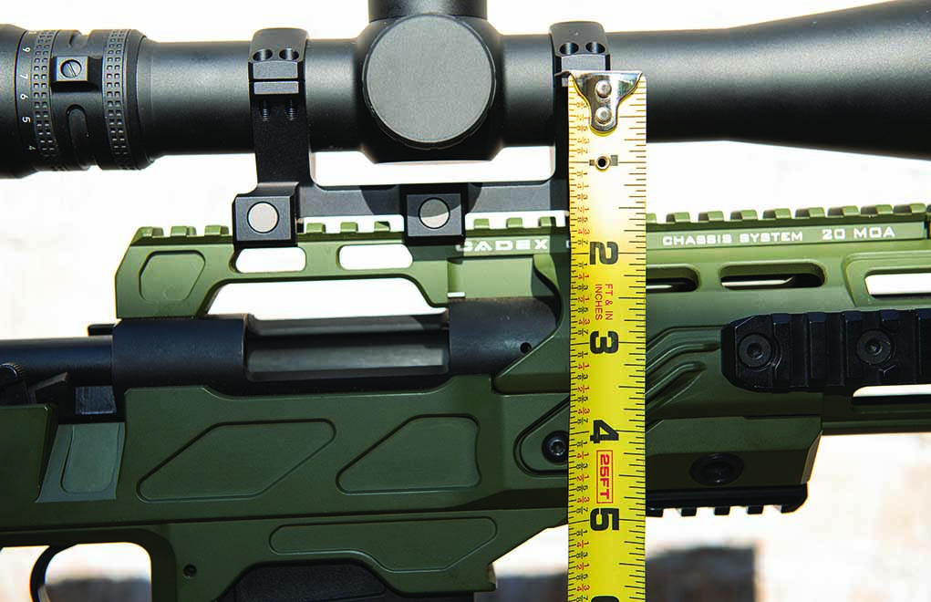 Measure the distance from the center of the bore to the center of the scope when inputting this data into your ballistic solver. The default setting of 1.5 inches is not correct.