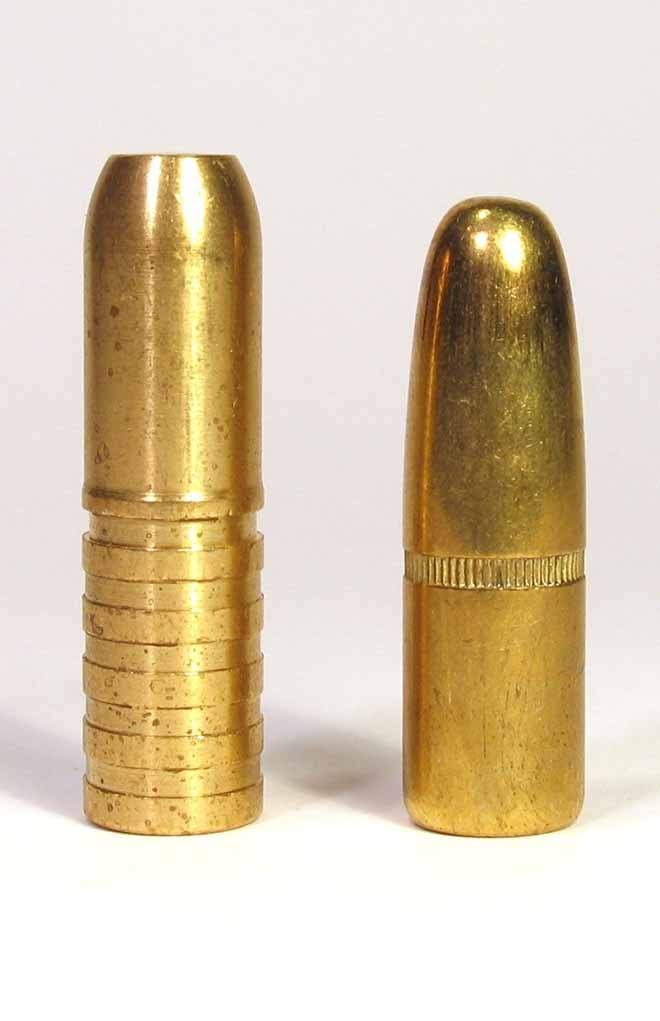 The rare instance where the sectional density of the unfired bullet can become a predictor of penetration is with non-expanding bullets like these.
