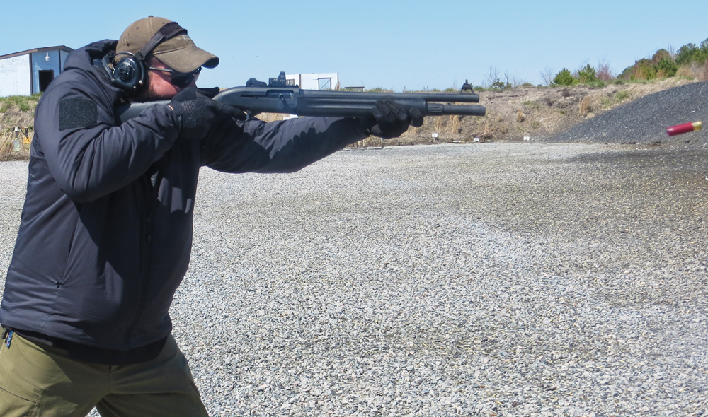 The Beretta 1301 Tactical cycles incredibly fast due to its BLINK gas operating system, which allows for easy rapid firing. Photo by Robert Sadowski