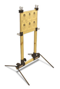 P3 Ultimate Target Stand uses furring strips to mount targets and can be adjusted to fit nearly any sized target on the market.
