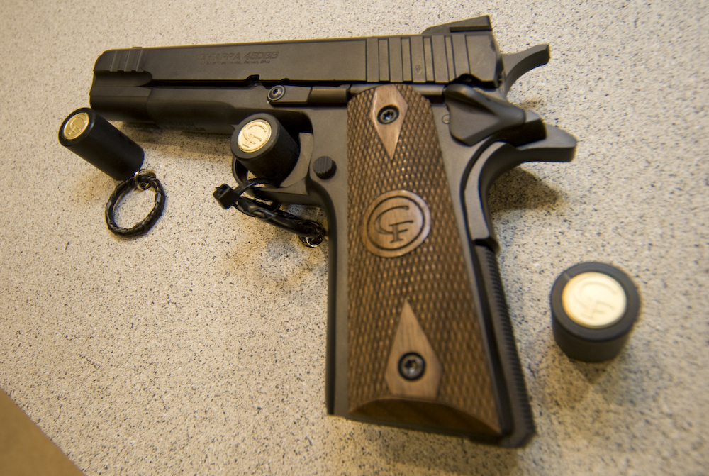 The Chiappa .45 DBB challenges orthodoxy with a delayed blow back design. It promises increased accuracy and reliability without the custom price tag.