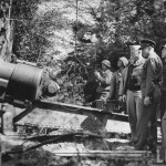 "General Dwight D. Eisenhower, in Normandy with troops and a mighty 155mm cannon, as it appeared in 'LIFE"" magazine a while back."