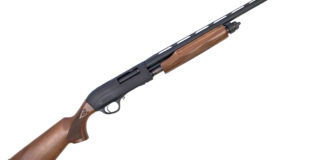 The M87 is the first walnut stocked pump-action shotgun Escort is offering in America.