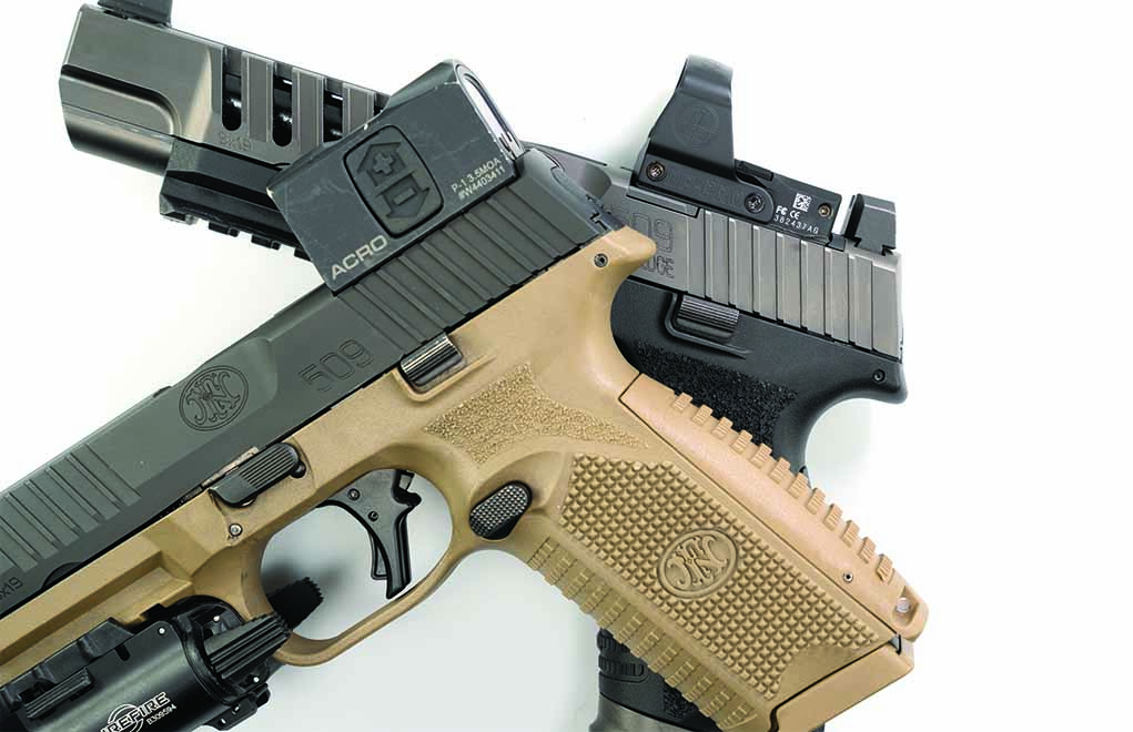 The LS Edge's new slide stop looks identical to the Tactical's, except it's a touch longer.
