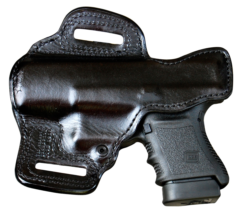 The High Noon Slide Guard holster is a good match with the Glock 30S for shooters that like the gun to ride outside the pants and on the belt for quick access.