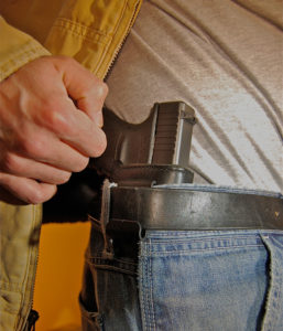 Experiment mounting the holster inside the waistband between the 4 o'clock and 3 o'clock positions  (for lefties try the area from 9 to 8 o'clock spots) in order to determine what works best for your comfort.