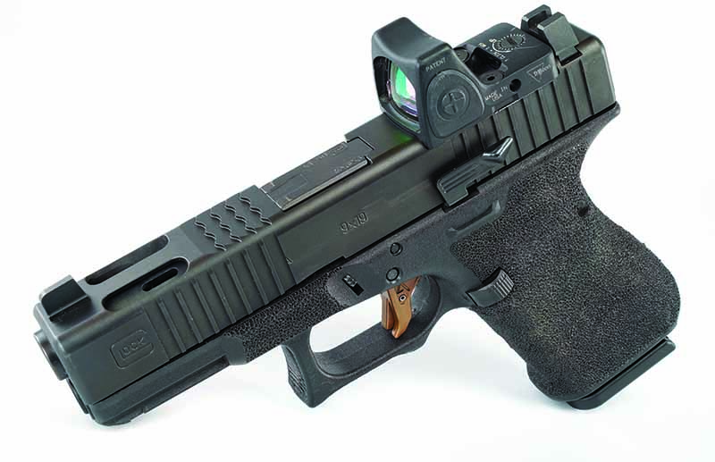 A Glock 19 C makes a great concealed carry gun with a few enhancements that help it perform like a much larger one with a compensator.
