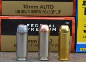 The 10mm offers a wide selection of rather serious hunting loads like those offered by Federal, Double Tap and Buffalo Bore Ammunition. Author Photo