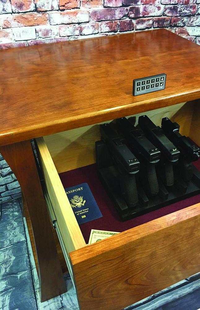 Top Secret Furniture end table hidden gun safe.