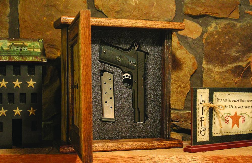 Liberty Home Concealment clock style hidden gun safe.