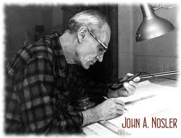 Bullet genius John Nosler at his drafting table.