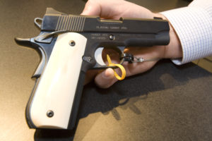 The Kimber Classic Pro Carry 1911 unveiled at SHOT Show 2012. Photo by Corey Graff.
