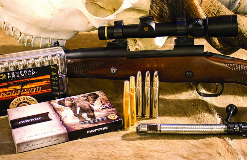 The author's Winchester Model 70 Safari Express in .416 Rem. Magnum, topped with a Leupold VX-3 1.5-5x20mm in Talley detachable rings.