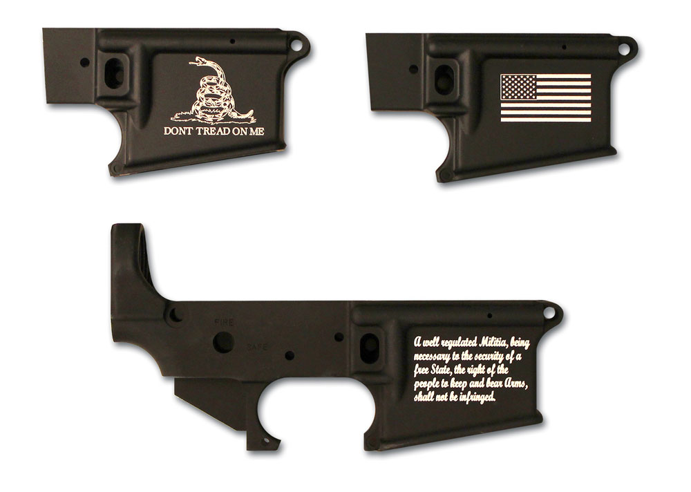 Stag Arms is now offering new designs for its laser engraved lowers.