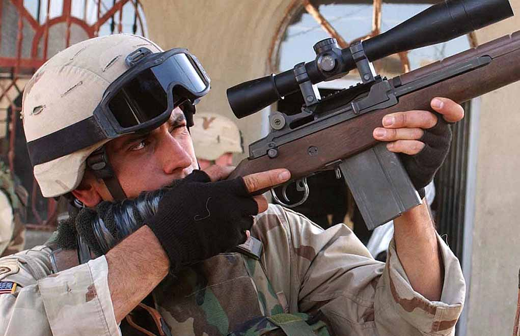Despite its short run as the military's main rifle, the M14 chambered .308 Winchester did find its way to recent battlefields.