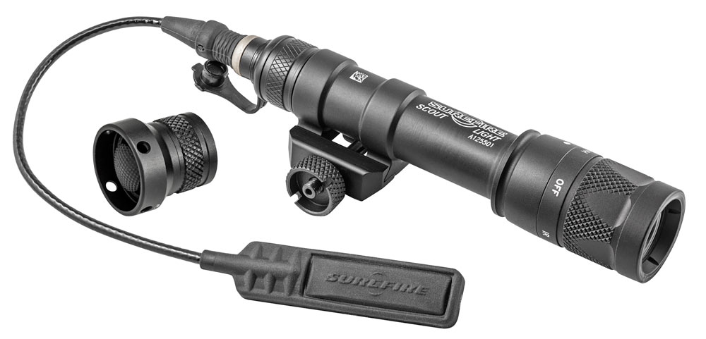 SureFire has slimmed down its Scout weapon lights, but has kept all their popular functions, such as run time, output, pressure pad and thumbscrew clamp.