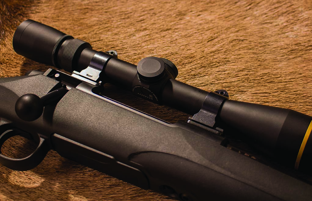 The Leupold VX-3i 3.5-10x40 – in Talley rings and bases – complemented the M18 very well.