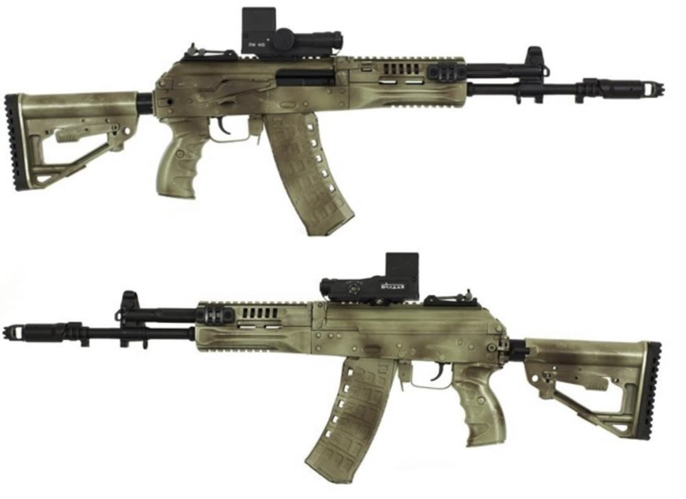 The newer version of the AK-12 in its design was brought back to the original Kalashnikov system. However, it now also included most of the ergonomic, handling and modular features of the previous model.