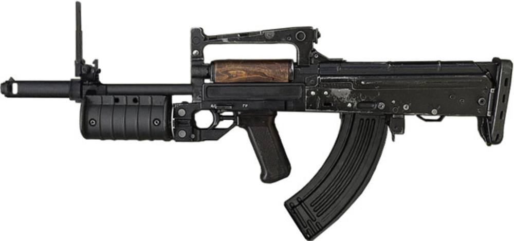 The Groza-1 is chambered for the 7.62x39mm cartridge and was designed for use by Russian special operation troops.